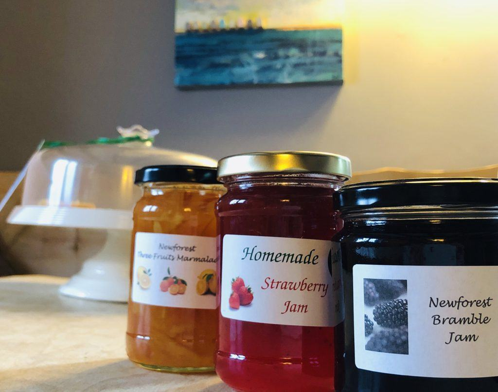 Forest bee products honey, jams and marmalades.